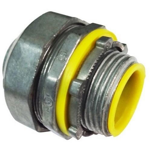 Morris 15256 Liquid Tight Connectors - Straight - Insulated Throat - Zinc Die Cast 1-1/2
