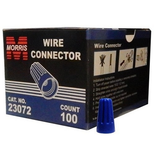 Morris 23072 Screw-On Wire Connectors P2 Blue Boxed 100 Pack