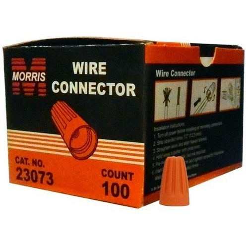 Morris 23073 Screw-On Wire Connectors P3 Orange Boxed 100 Pack