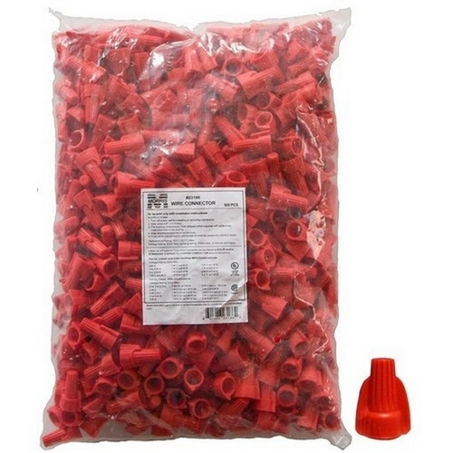Morris 23186 Winged Twist Connectors Red Bagged 500 Bulk Pack