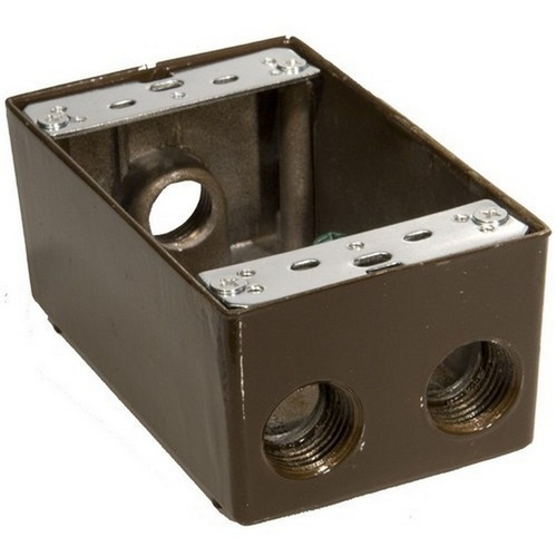 Morris 36034 Weatherproof Boxes - One Gang 18.3 Cubic Inch Capacity - 4 Outlet Holes 1/2