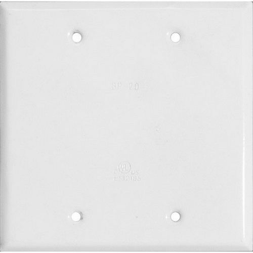Morris 37262 Two Gang Weatherproof Covers - Blank Cover White