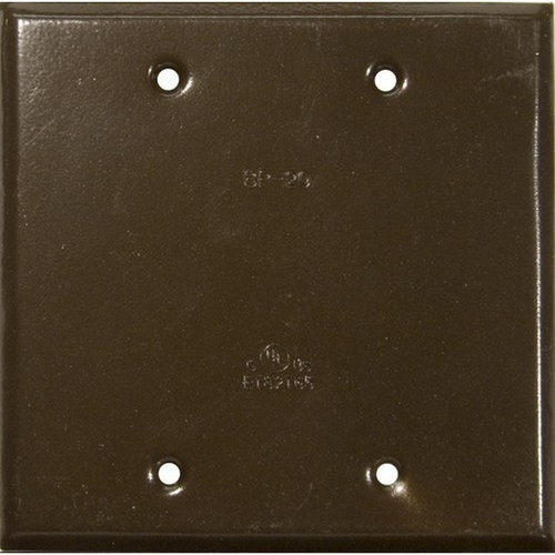 Morris 37264 Two Gang Weatherproof Covers - Blank Cover Bronze