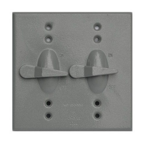 Morris 37291 Two Gang Weatherproof Covers - 2 Toggle Switch Cover
