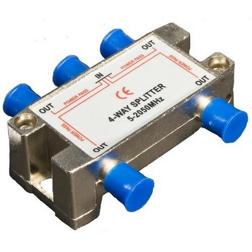 Morris 45054 4 Way Splitters with Ground Block Satellite 5-2050Mhz