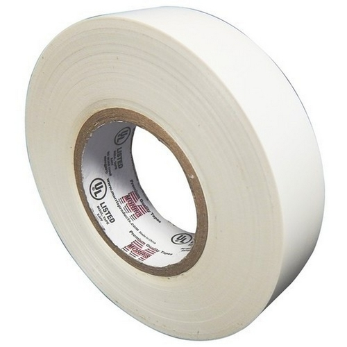 Morris 60112 7 Mil Professional Grade Vinyl Electrical Tape White 3/4