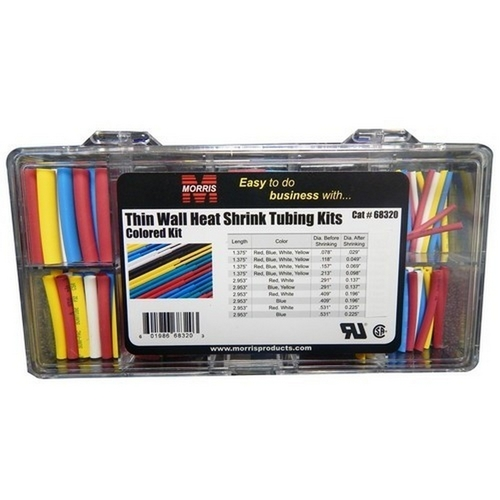 Morris 68320 Thin Wall Heat Shrink Tubing Kits - Colors