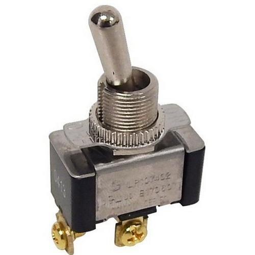 Morris 70070 Heavy Duty 1 Pole Toggle Switch SPST Screw Terminals with On-Off Plate