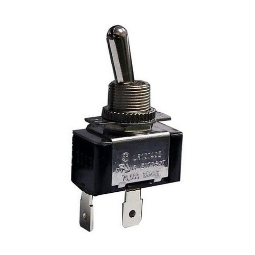 Morris 70071 Heavy Duty 1 Pole Toggle Switch SPST Quick Connect with On-Off Plate