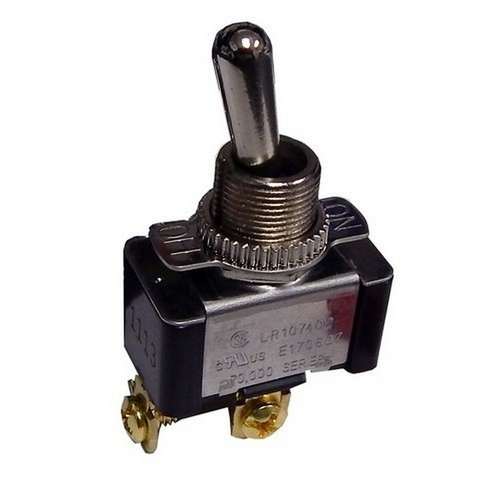 Morris 70072 Heavy Duty 1 Pole Toggle Switch SPST Screw Terminals with On-Off Plate
