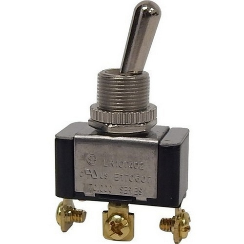 Morris 70090 Heavy Duty 1 Pole Toggle Switch SPDT On-On Screw Terminals