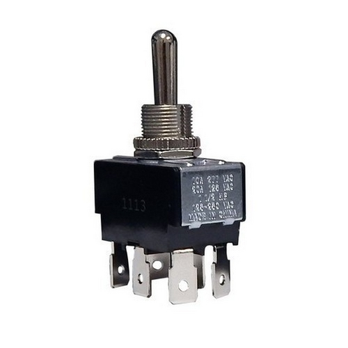 Morris 70111 Heavy Duty 2 Pole Toggle Switch DPDT On-Off-On Quick Connect Terminals