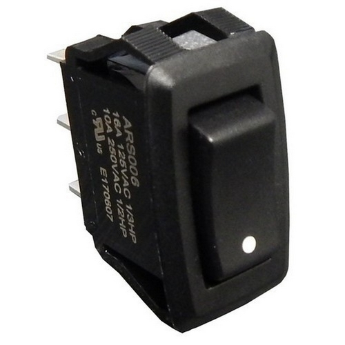 Morris 70181 Appliance Rocker Switch with Printed Dot SPDT On-Off-On Quick Connect Spade Terminal