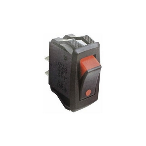 Morris 70191 Dual Color Rocker Switch SPST On-Off Quick Connect Spade Terminals