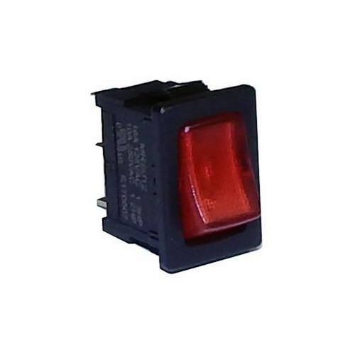 Morris 70192 Miniature Lighted Rocker Switch SPST On-Off Quick Connect Spade Terminals