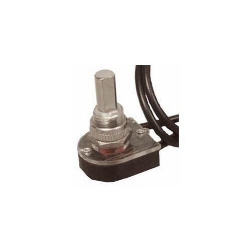 Morris 70210 Nickel Push Button SPST Maintained Contact On-Off with 6