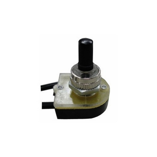 Morris 70222 Rotary Switch SPST Black Button On-Off with 6