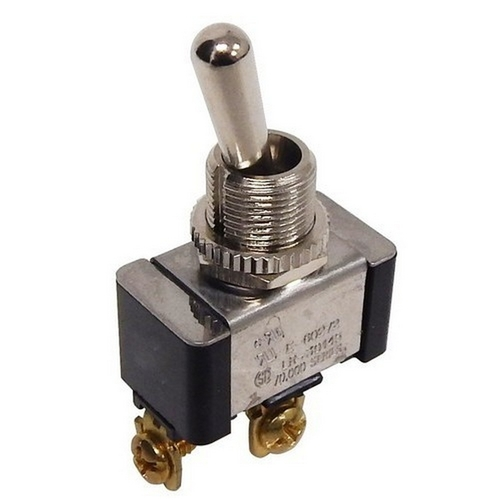 Morris 70252 Heavy Duty Momentary Contact Toggle Switch SPST On-(Off) Screw Terminals