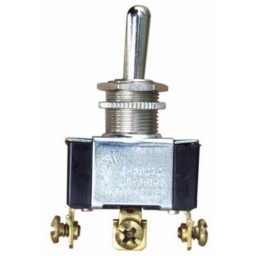 Morris 70280 Heavy Duty Momentary Contact Toggle Switch SPDT (On)-Off-(On) Screw Terminals