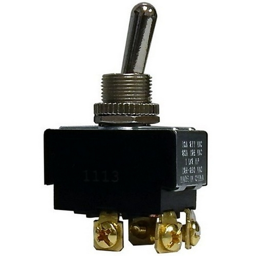 Morris 70290 Heavy Duty Momentary Contact Toggle Switch DPDT (On)-Off-On Screw Terminals