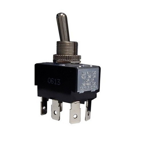 Morris 70299 Heavy Duty Momentary Contact Toggle Switch DPDT (On)-Off-(On) Quick Connect Spade Terminals