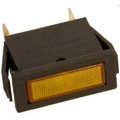 Morris 70312 Rectangular Indicator Pilot Lamp Amber 250VAC