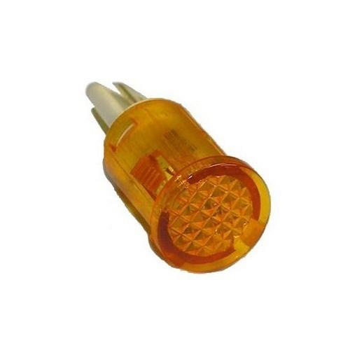 Morris 70322 Round Indicator Pilot Lamp Quick Connect Spade Terminal Amber 250VAC