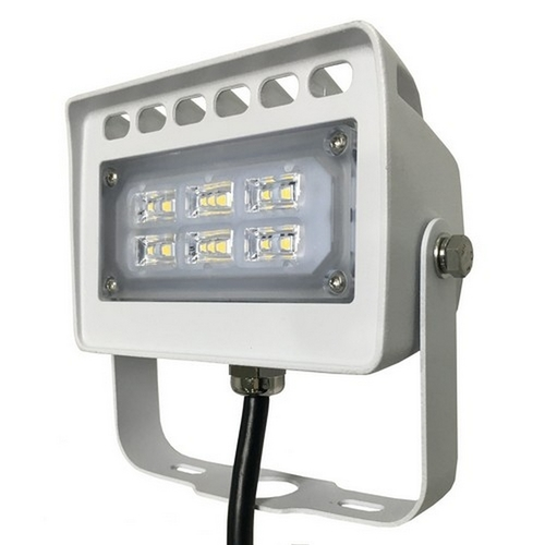 Morris 71137A LED ECO-Flood Light with Yoke(Bracket)12 Watts 1,423 Lumens 120-277V 5000K White