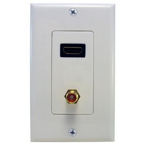 Morris 80446 Combination HDMI & RCA Connector Home Enterainment WallPlate
