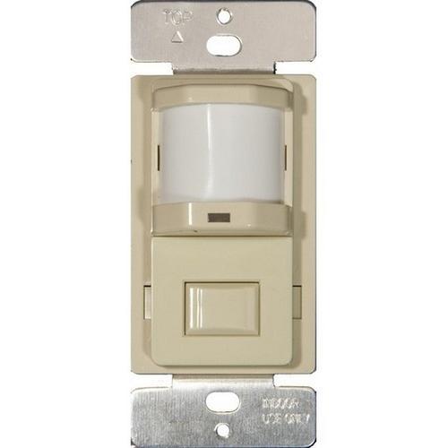 Morris 80520 Wall Mount Occupancy/Vacancy Sensors - PIR Single Pole Ivory