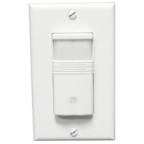 Morris 80521 Wall Mount Occupancy/Vacancy Sensors - PIR Single Pole White
