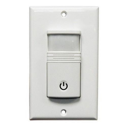 Morris 80528 Wall Mount Occupancy/Vacancy Sensors - No Neutral - PIR Single Pole White