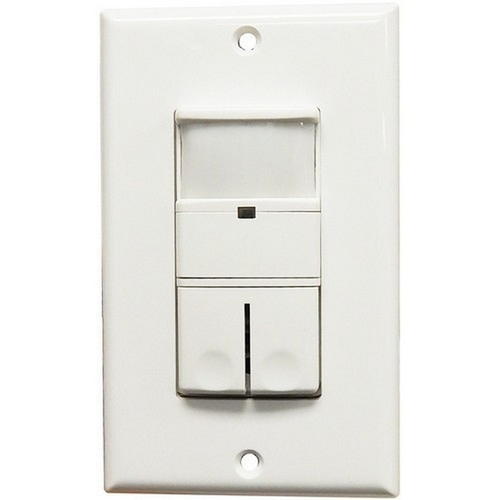 Morris 80544 Wall Mount Occupancy/Vacancy Sensors - Double Pole - PIR White