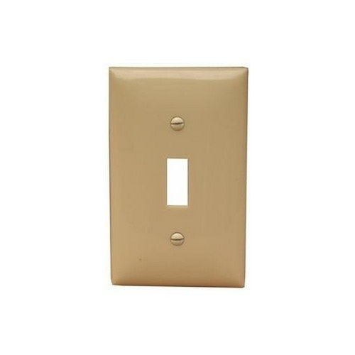 Morris 81710 Lexan Wall Plates 1 Gang Midsize Toggle Switch Ivory