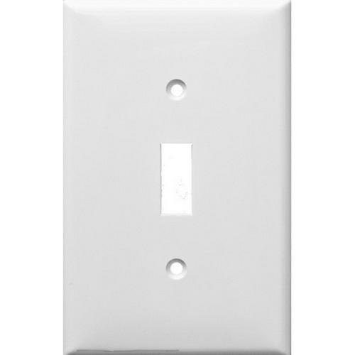 Morris 81711 Lexan Wall Plates 1 Gang Midsize Toggle Switch White