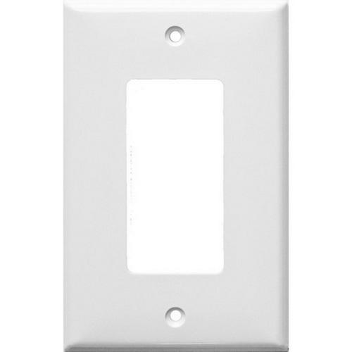 Morris 81721 Lexan Wall Plates 1 Gang Midsize Decorative/GFCI White