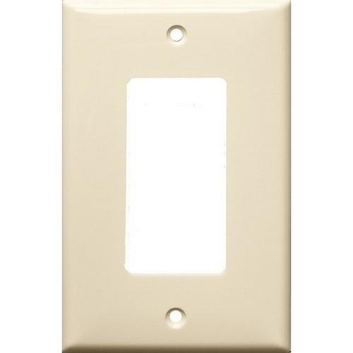 Morris 81723 Lexan Wall Plates 1 Gang Midsize Decorative/GFCI Almond