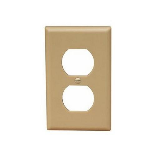 Morris 81730 Lexan Wall Plates 1 Gang Midsize Duplex Receptacle Ivory