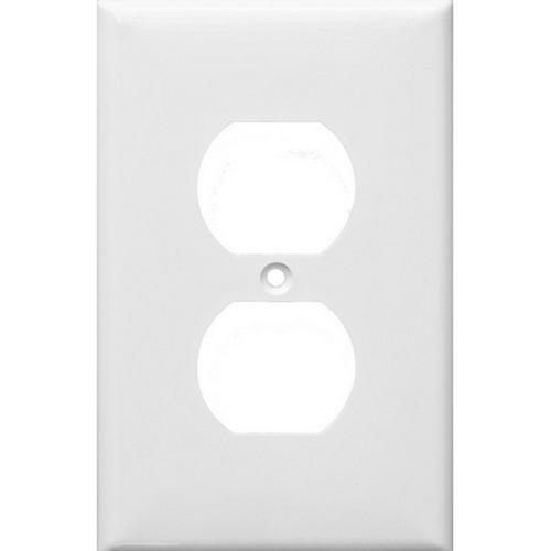 Morris 81731 Lexan Wall Plates 1 Gang Midsize Duplex Receptacle White