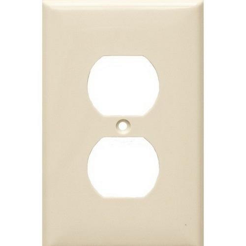 Morris 81733 Lexan Wall Plates 1 Gang Midsize Duplex Receptacle Almond