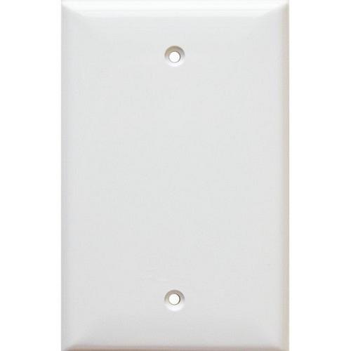Morris 81741 Lexan Wall Plates 1 Gang Midsize Blank White
