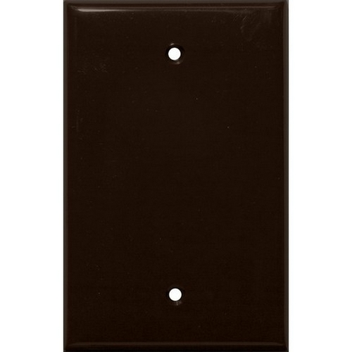Morris 81742 Lexan Wall Plates 1 Gang Midsize Blank Brown