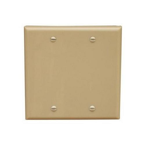 Morris 81745 Lexan Wall Plates 2 Gang Midsize Blank Ivory