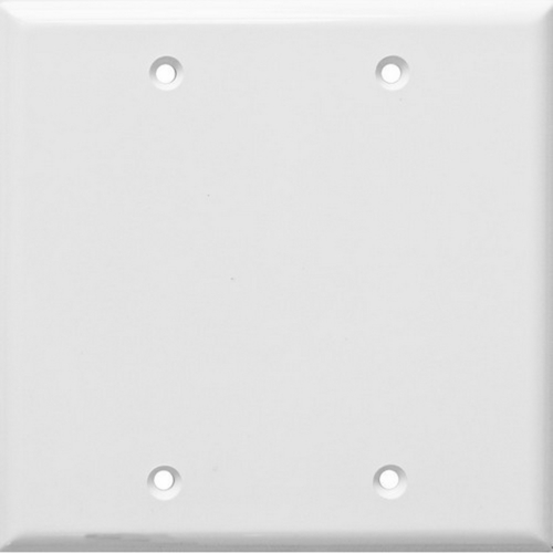 Morris 81746 Lexan Wall Plates 2 Gang Midsize Blank White