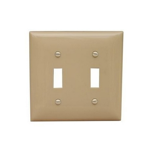 Morris 81750 Lexan Wall Plates 2 Gang Midsize Toggle Switch Ivory