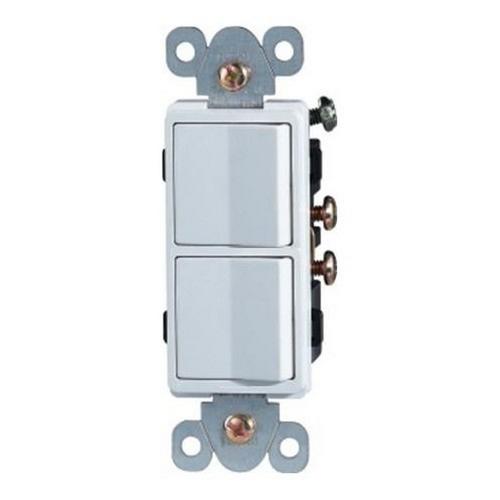 Morris 81981 Commercial Grade Decorative Double Rocker Switch White 15A-120/277V