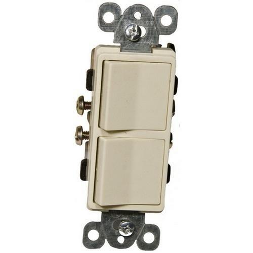 Morris 81980 Commercial Grade Decorative Double Rocker Switch Ivory 15A-120/277V
