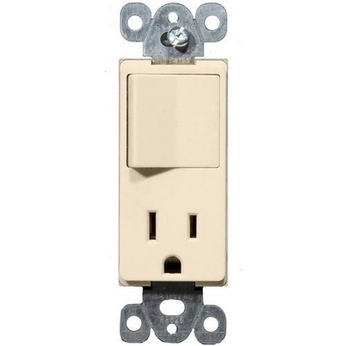 Morris 81993 Commercial Grade Decorative Single Pole Switch/Receptacle Rocker Switch Almond 15A-125V