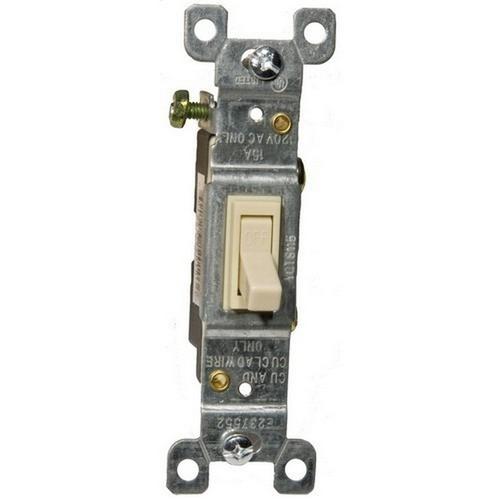 Morris 82010 Toggle Switch Ivory Single Pole 15A-120/277V
