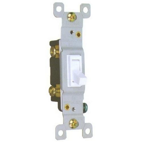 Morris 82011 Toggle Switch White Single Pole 15A-120/277V